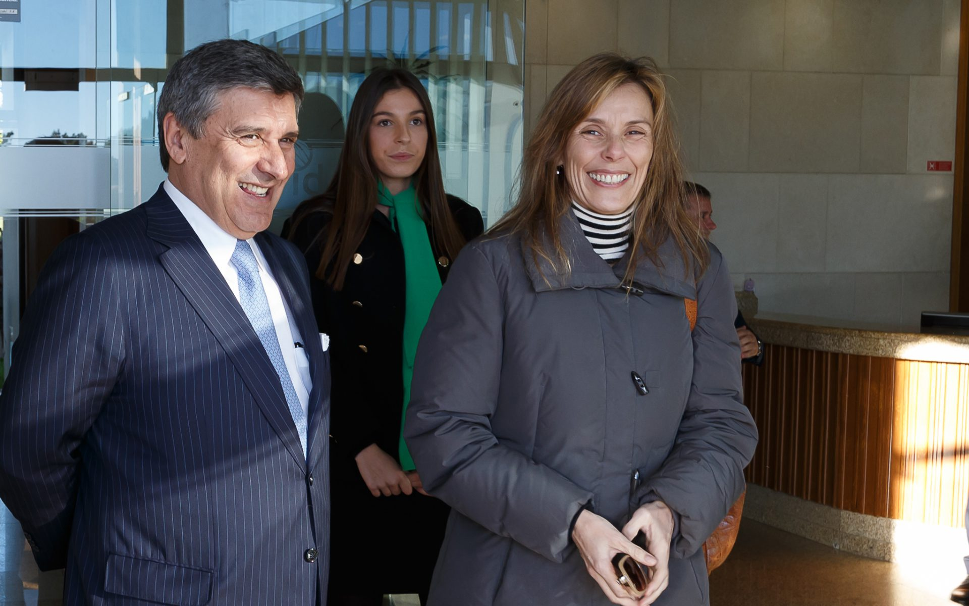 Paulo Fernandes, president of Altri and Ana Mendonça, Altri administrator