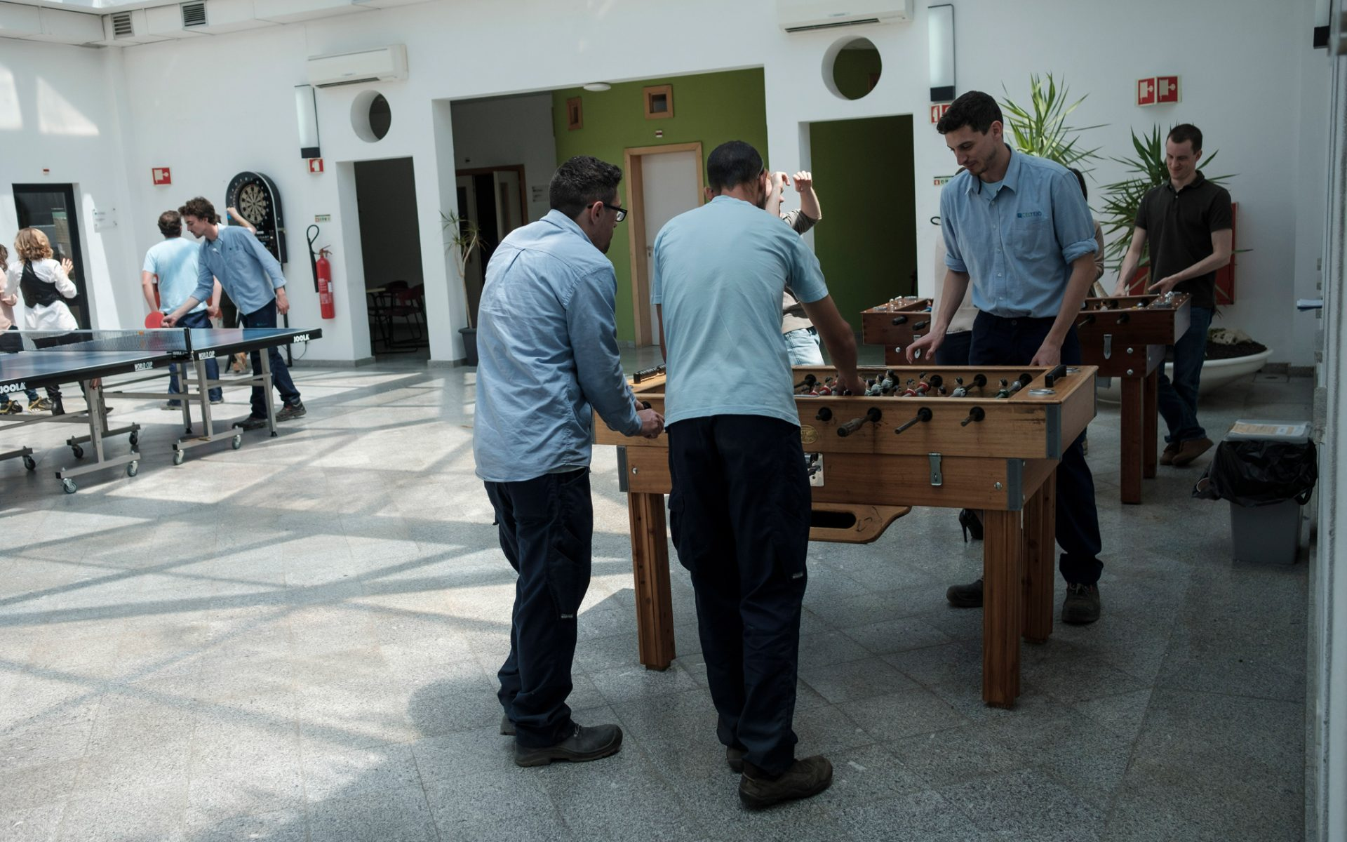 Ping-pong, table football, running and football are some of the modalities that integrate the Celtejo Olympics