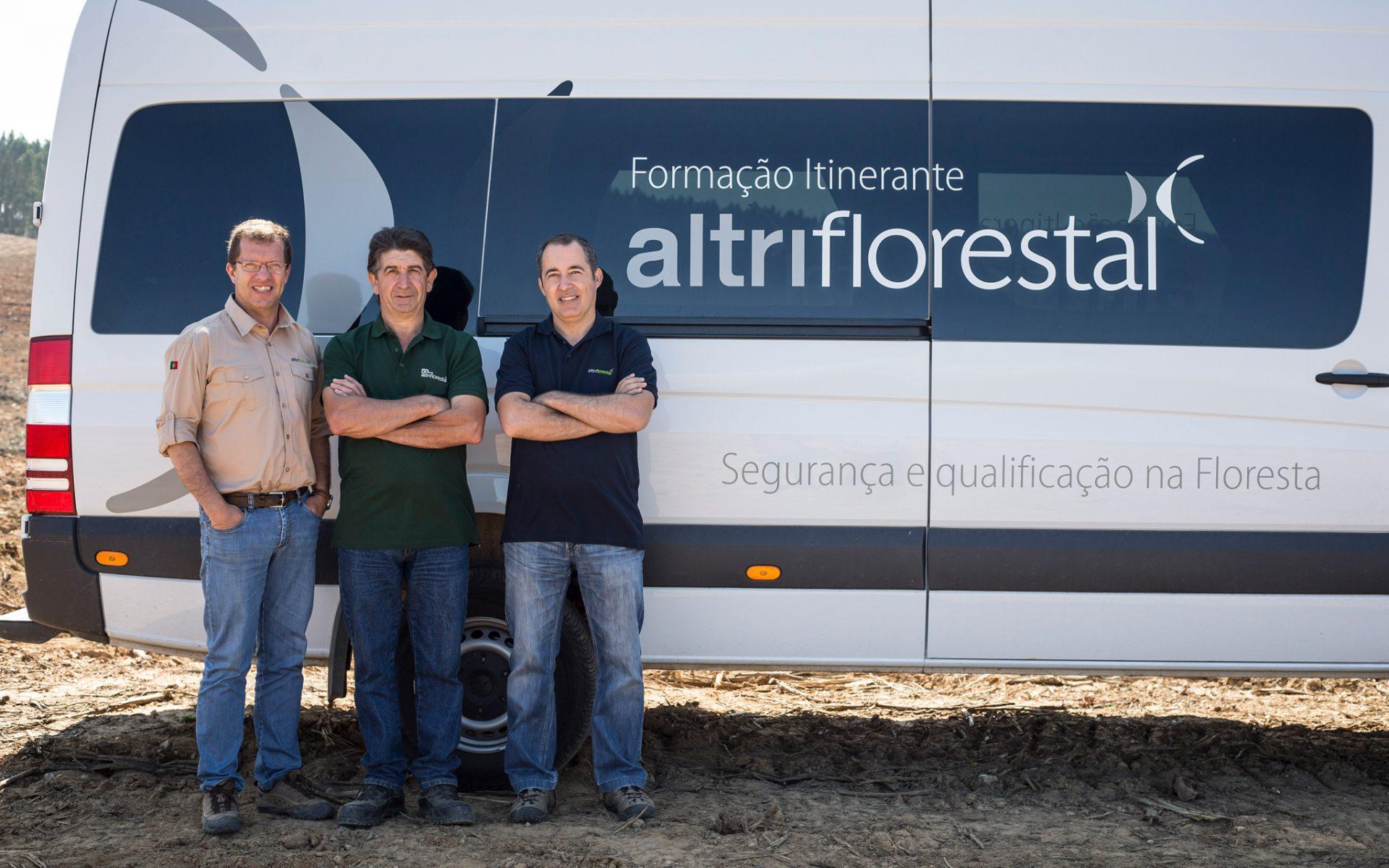 João Reis, Acácio José Henriques e Pedro Serafim, da Altri Florestal