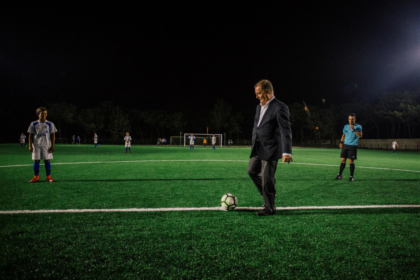 Presidente da CM Figueira da Foz da o pontapé de saída inicial no novo campo