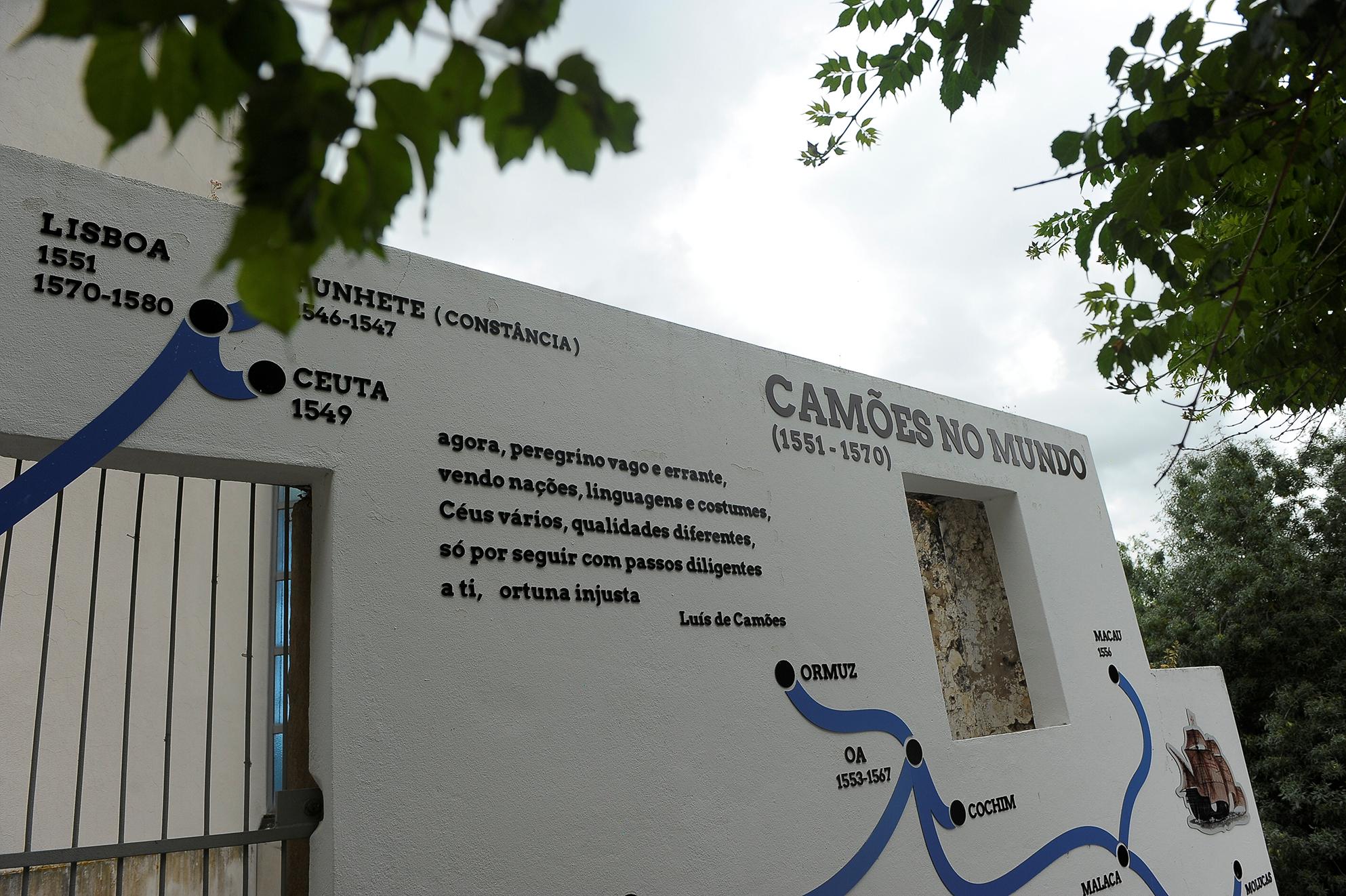 fachada do edifício da Casa Camões em Constância